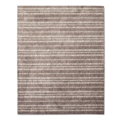 Tan Stripe Woven Area Rug - (8'X10')- Nate Berkus™