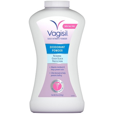 Vagisil Deodorant Powder With Odor Block Protection 8oz