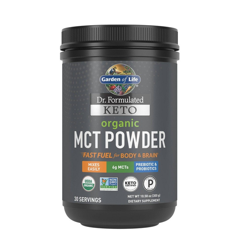 Garden of Life Dr. Formulated Keto Organic MCT Dietary Supplement Powder -...