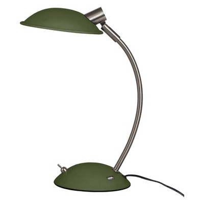 Rounded Retro LED Task Lamp with USB Dark Green (Includes Energy Efficient Light Bulb)- Room Essentials™