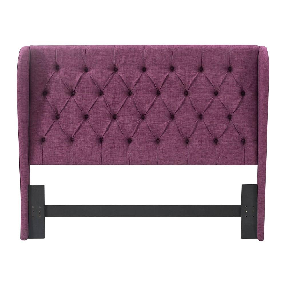 Image of Queen Harlow Upholstered Headboard Purple - Lillian August