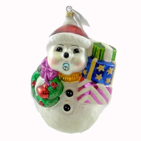 Christopher Radko Frosty Tenor Ornament Snowman Wreath - image 1 of 2