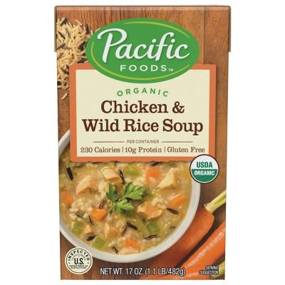 Pacific Foods Organic Gluten Free Chicken & Wild Rice Soup - 17oz