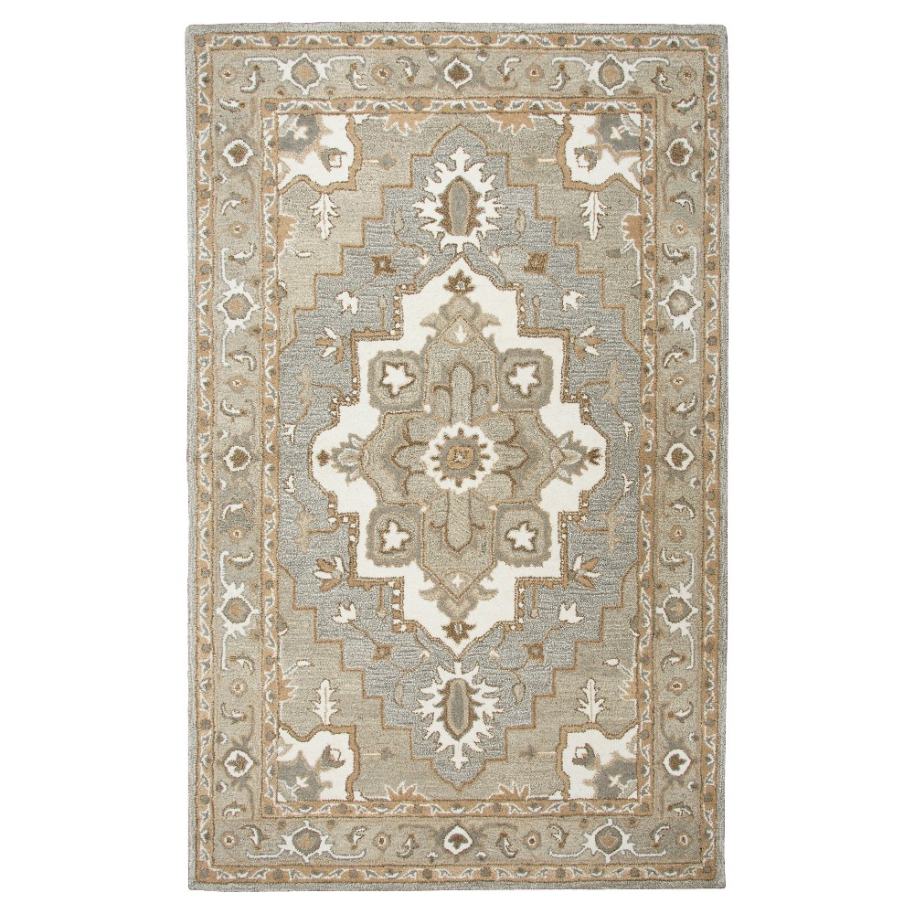 Image of Oriental Medallion Rug - Gray - (9'X12') - Rizzy Home