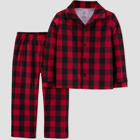 Toddler Boys' Buffalo Check Coat Pajama Set - Just One You® made by carter's Red - image 1 of 1