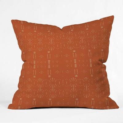 "16""x16"" Grace Saona Pattern Terracota Throw Pillow Red - Deny Designs"