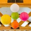 """6ct Size 12"""" 14"""" 16"""" Paper Lanterns Orange - image 3 of 4"""