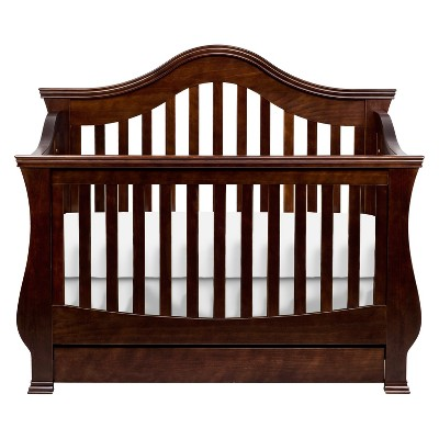 Million Dollar Baby Classic Ashbury 4-in-1 Convertible Crib with Toddler Rail - Espresso, Brown