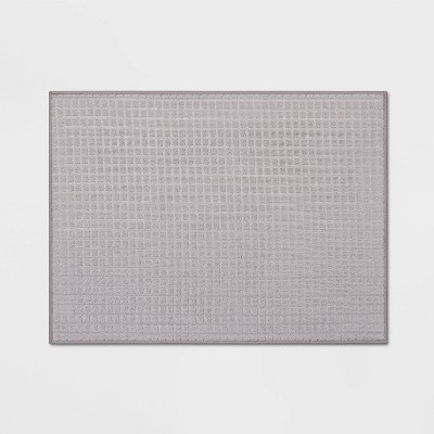 "20"" x 15"" Reversible Kitchen Drying Mat Gray - Room Essentials™"