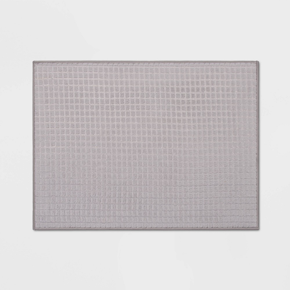 "Image of ""20"""" x 15"""" Reversible Kitchen Drying Mat Gray - Room Essentials"""