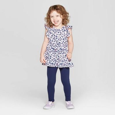 Toddler Girls' Leopard Print Top and Bottom Set - Cat & Jack™ Pink 2T