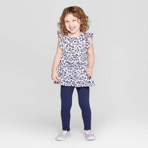 024f547c4488 Toddler Girls' Leopard Print Top And Bottom Set - Cat &Jack™ Pink : Target