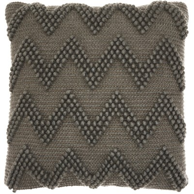 "20""x20"" Chevron Oversize Square Throw Pillow Charcoal - Mina Victory"