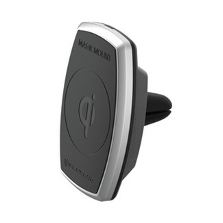Scosche Magic Mount Pro Qi Wireless Charger Car Vent Mount - Silver