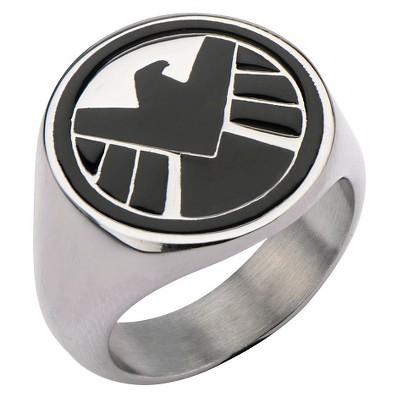 Men's Marvel® Agents of S.H.I.E.L.D Stainless Steel Logo Ring