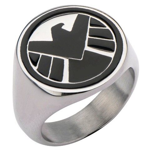 Men's Marvel® Agents of S.H.I.E.L.D Stainless Steel Logo Ring - image 1 of 2