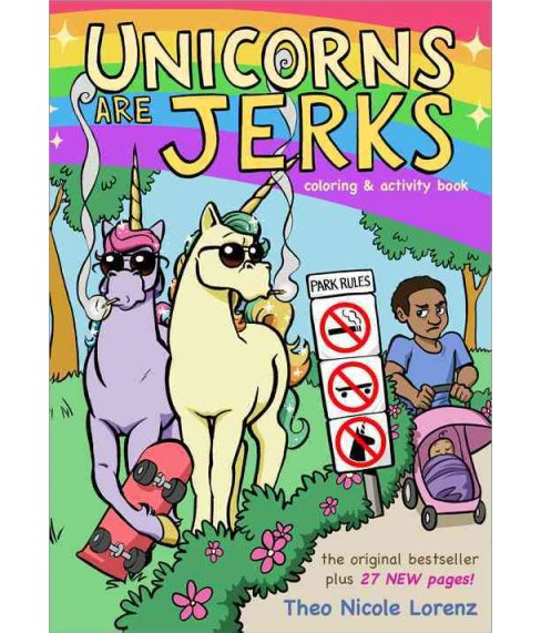 Unicorns Are Jerks Coloring Activity Book Paperback Target