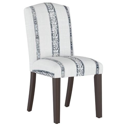 Camel Back Dining Chair Block Print Stripe Light Gray - Cloth & Company - image 1 of 4