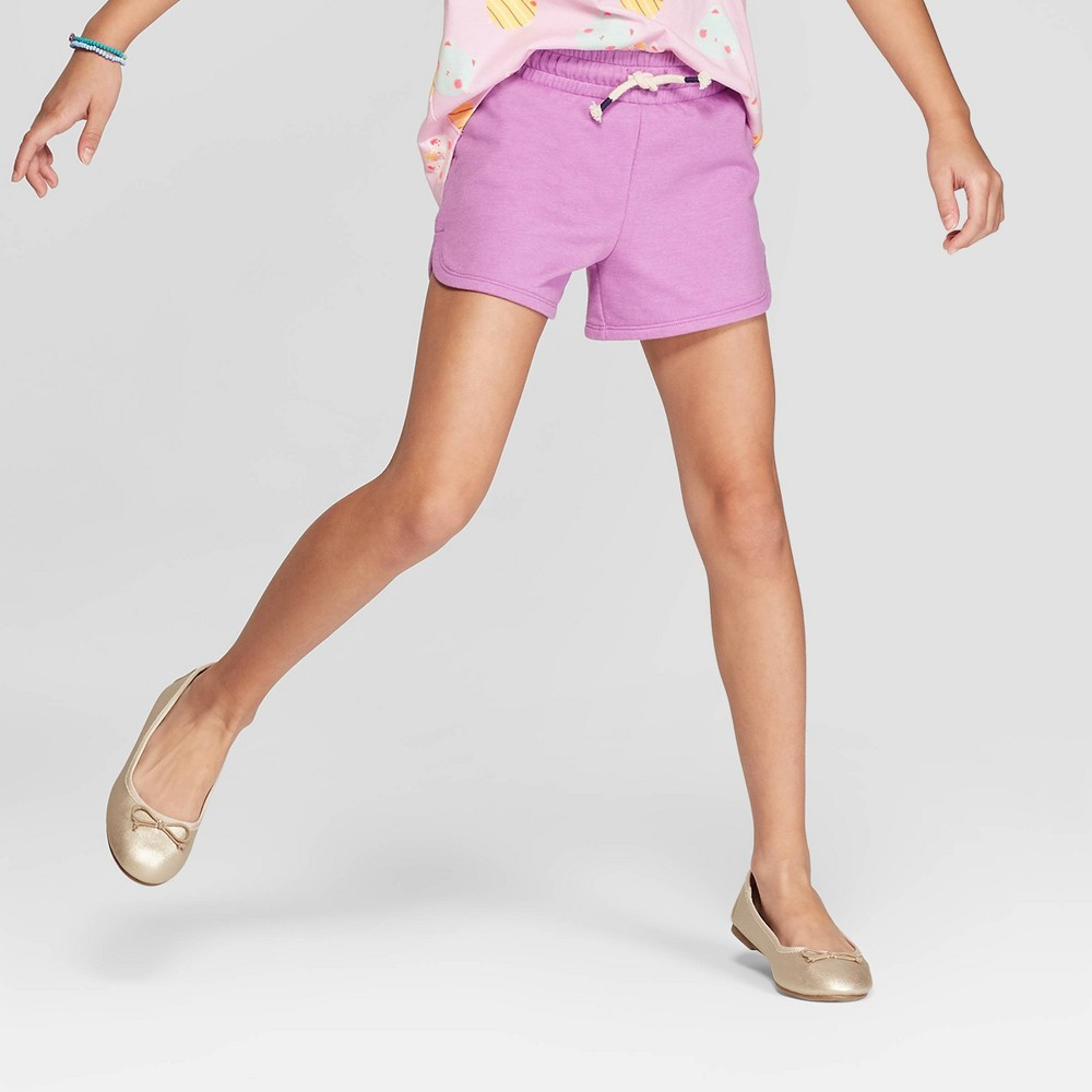 Girls' Knit Shorts - Cat & Jack Purple S