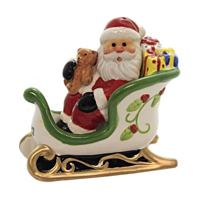 Tabletop 3 5 Santa And Sleigh Salt Pepper Christmas Teddy Bear Presents Cosmos Gifts Corp Salt And Pepper Shaker Sets Target