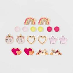 Girls' 9pk Unicorn Earrings - Cat & Jack™