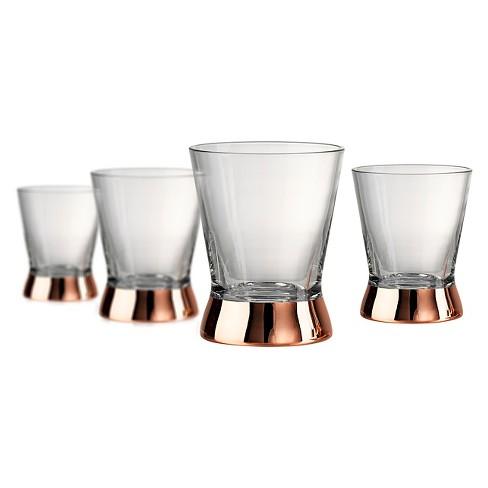 Artland Coppertino 4pk 10oz Double Old-Fashioned Glasses Copper - image 1 of 1