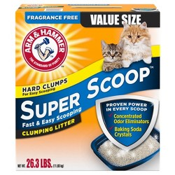 Arm & Hammer Super Scoop Fragrance Free Clumping Litter - 26.3lbs