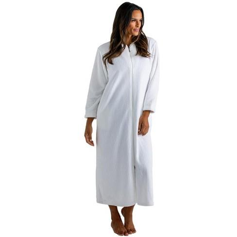Softies Women's Drop Needle Cloud Fleece Zip Robe - image 1 of 4