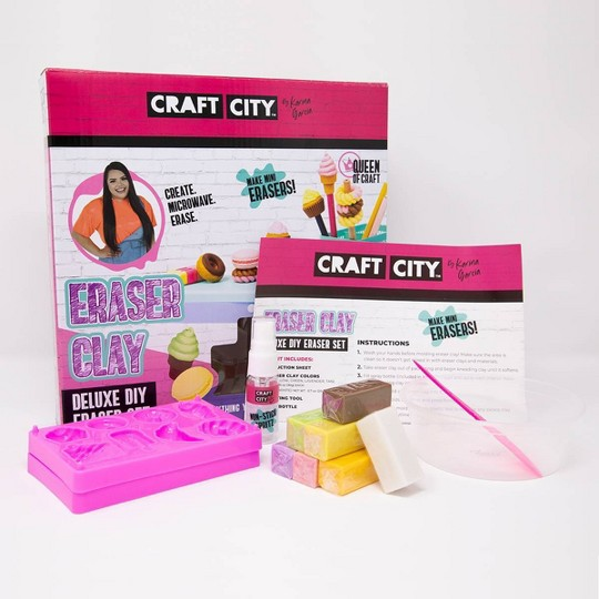 Craft City Deluxe DIY Eraser Clay Set image number null