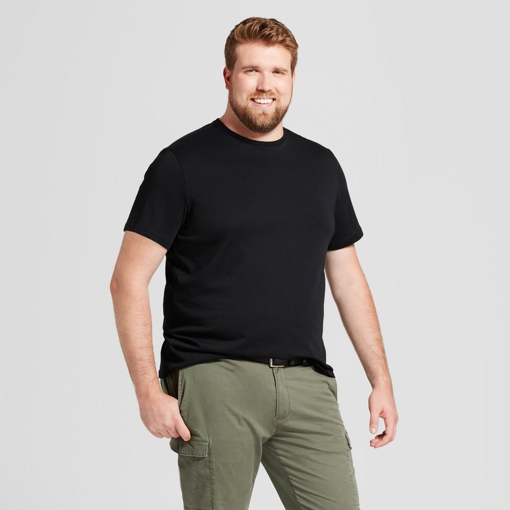Men's Big & Tall Standard Fit Crew T-Shirt - Goodfellow & Co Black 5XB