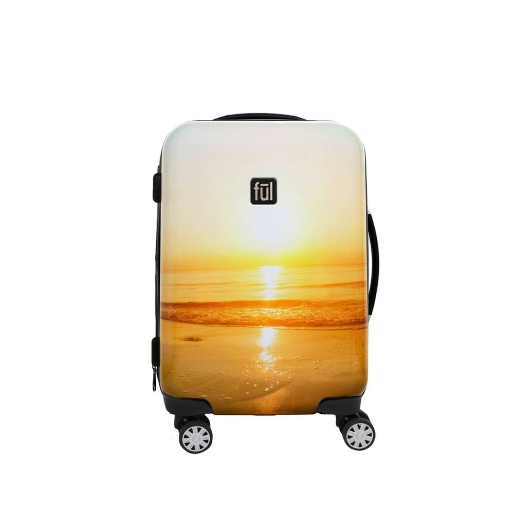 """Image of """"FUL 21"""""""" Sunset Hardside Spinner Suitcase, Size: Small, Orange"""""""