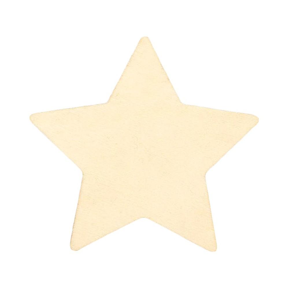 Creatify Wooden Star - 3 x 3, Neutral