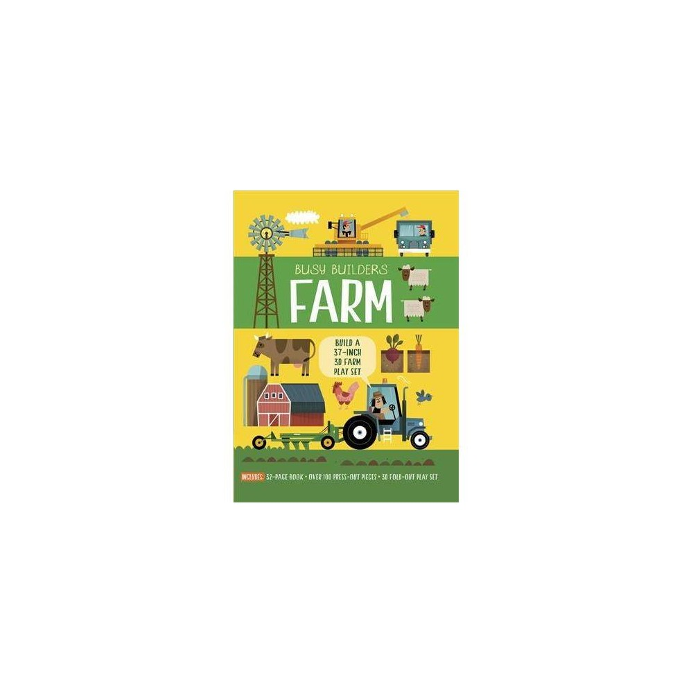 Farm : Build a 37-Inch 3D Farm Play Set - Pap/Toy (Busy Builders) by Timothy Knapman (Paperback)