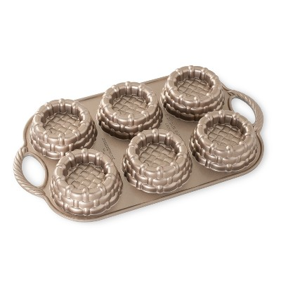 Nordic Ware Cast-Aluminum Nonstick Baking Pan, Shortcake Baskets