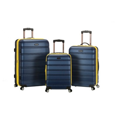 Rockland Melbourne 3pc ABS Luggage Set - Navy