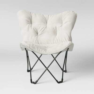 Ordinaire Sherpa Butterfly Chair Cream With Gray Legs   Room Essentials™