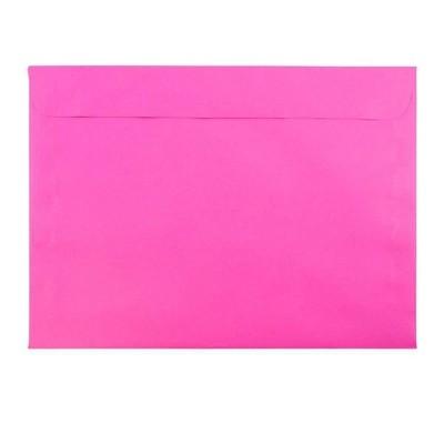 JAM Paper 50pk 9 x 12 Booklet Envelopes - Ultra Fuchsia Hot Pink