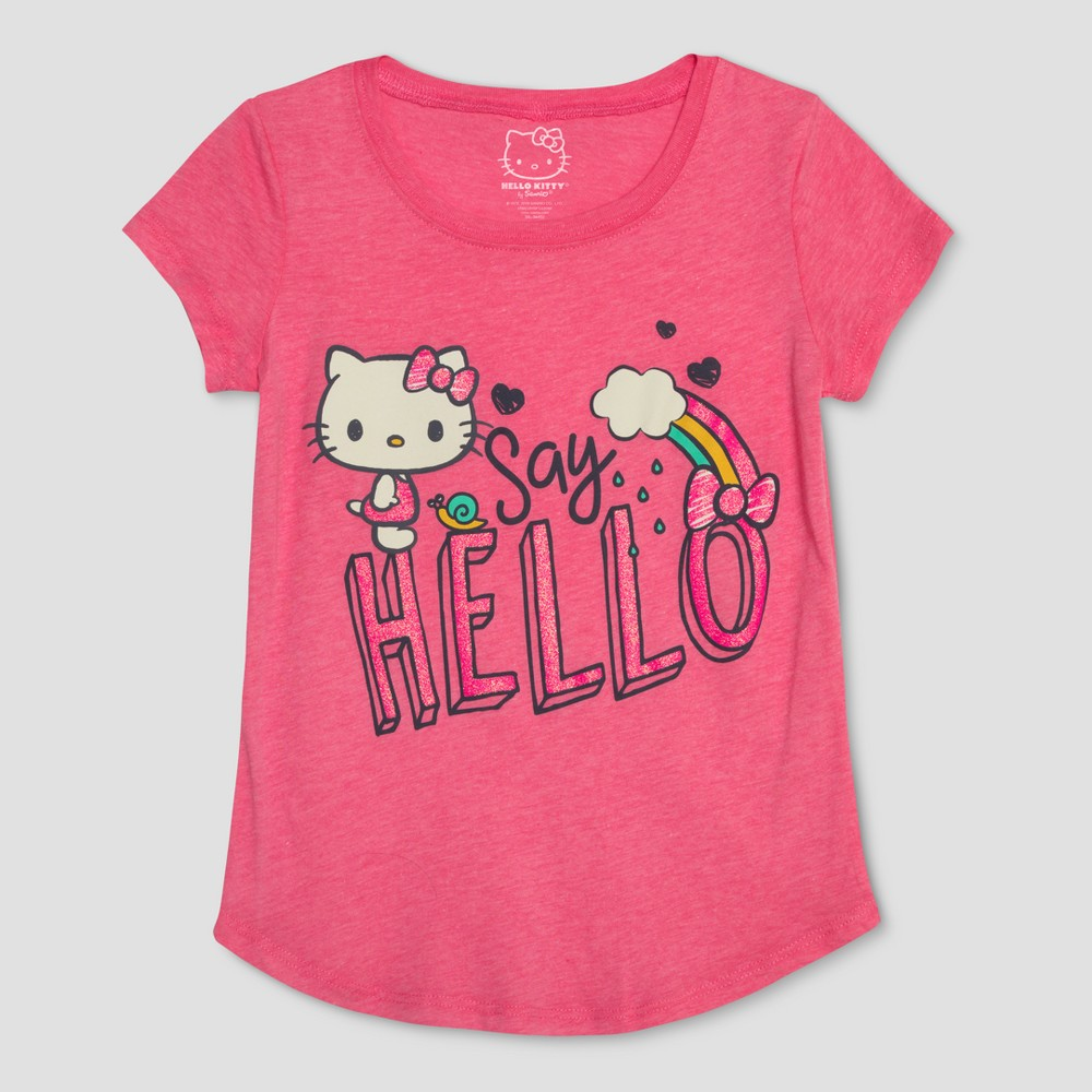 Girls' Hello Kitty Short Sleeve T-Shirt - Pink S
