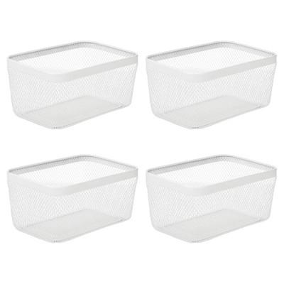 mDesign Metal Wire Food Organizer Storage Bin, 4 Pack