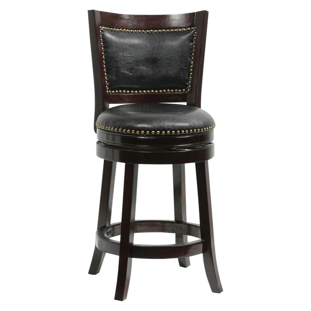 "Image of ""24"""" Bristol Swivel Counter Stool Cappuccino - Boraam"""