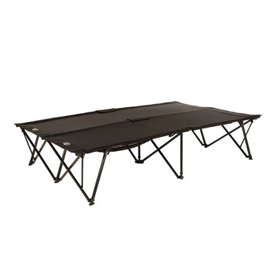 Kamp-Rite Double Kwik-Cot Compact Indoor & Outdoor Camping Sleeping Cot for 2 People, Great for Spare Guest Bed or Campsite, Easy Setup & Takedown