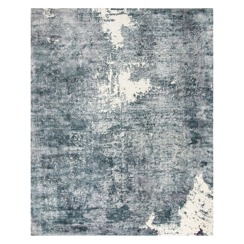 8'X10' Marble Area Rug Ivory/Gray - Safavieh