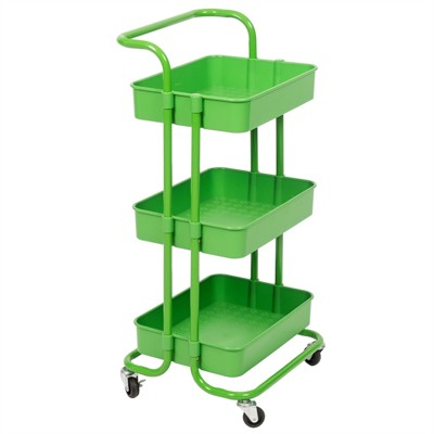 3 Tier Mobile Storage Caddy in Green-Pemberly Row