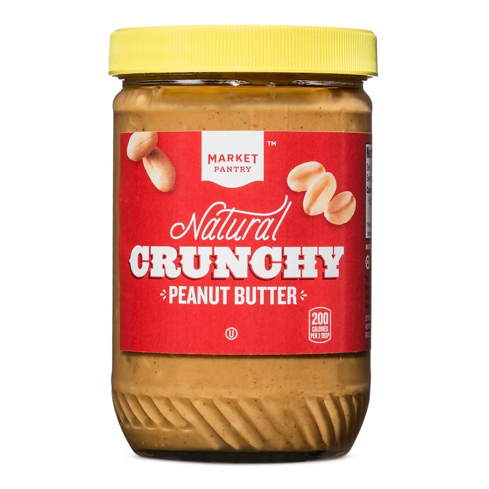 Natural Crunchy Peanut Butter - 16oz - Market Pantry