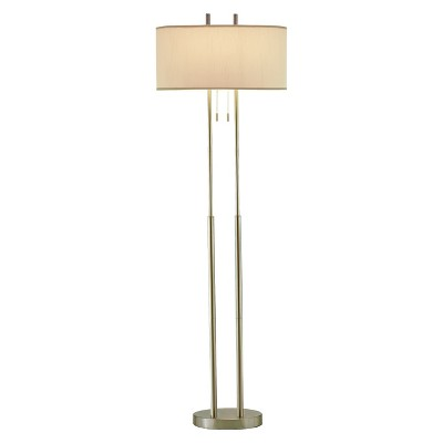 """62"""" Duet Floor Lamp Silver/Ivory - Adesso"""