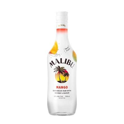 Malibu Caribbean Rum with Mango Liqueur - 750ml Bottle