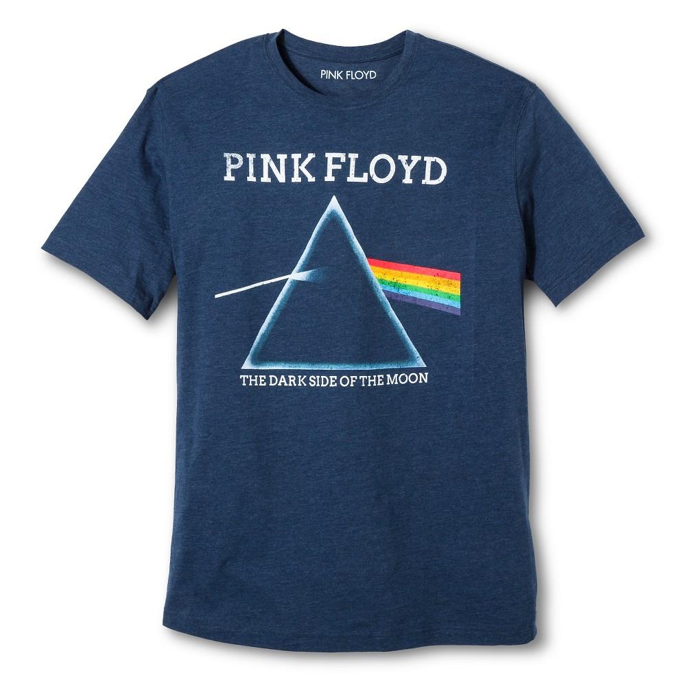 Men's Big & Tall Pink Floyd T-Shirt Navy (Blue) 5XL