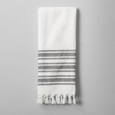 Hand Towel with Tassel - Black/White - Hearth & Hand™ with Magnolia