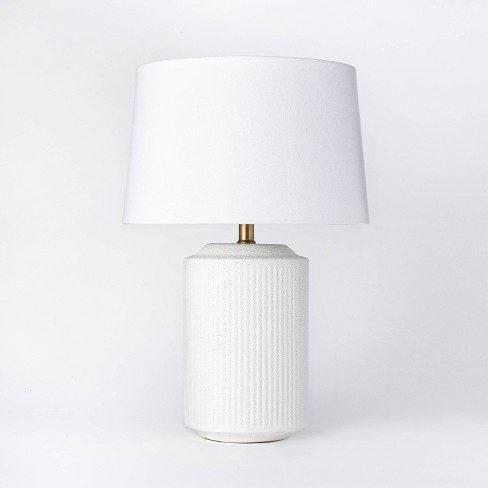 Ceramic Assembled Table Lamp White - Threshold™ designed with Studio McGee - image 1 of 4