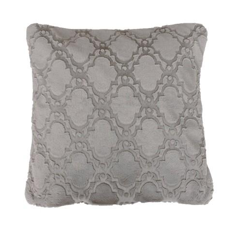 Mia Lattice Pillows & Decorative Throw Set Silver - Dcor Therapy - image 1 of 3